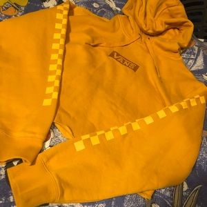 Women's vans crop top yellow hoodie medium